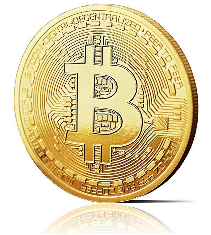 Bitcoin Medaille 24-Karat vergoldet