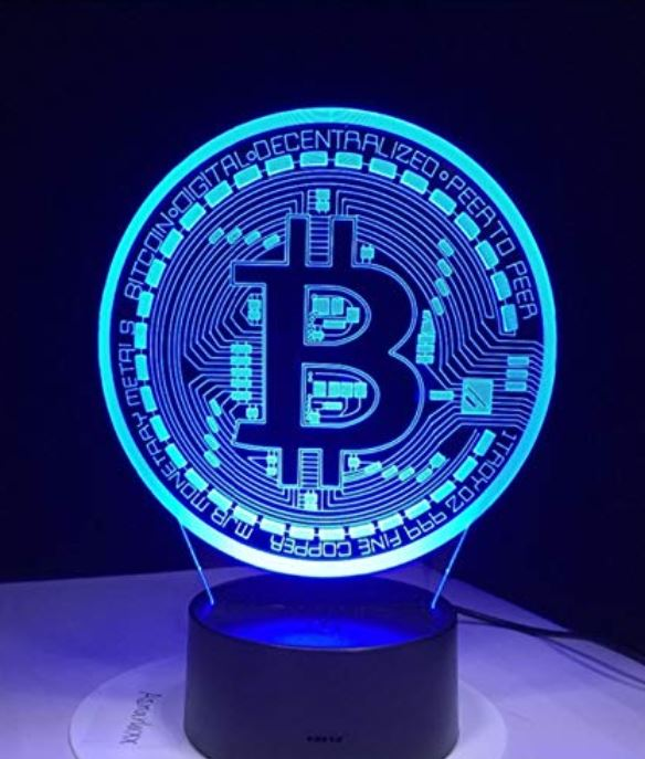 Bitcoin 3D Nachtlicht