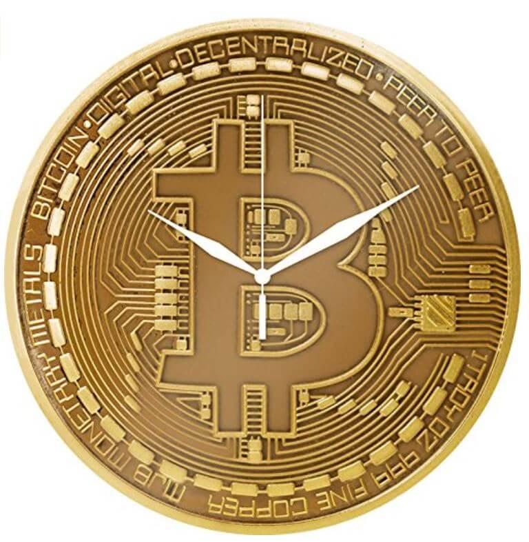 Bitcoin Wanduhr