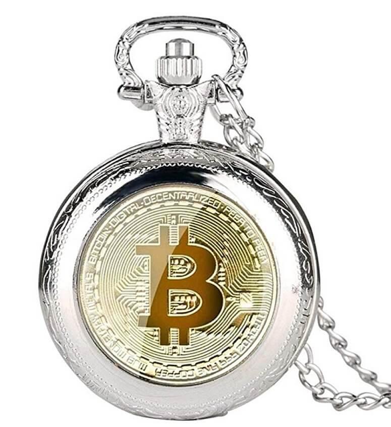 Taschenuhr vergoldet Bitcoin