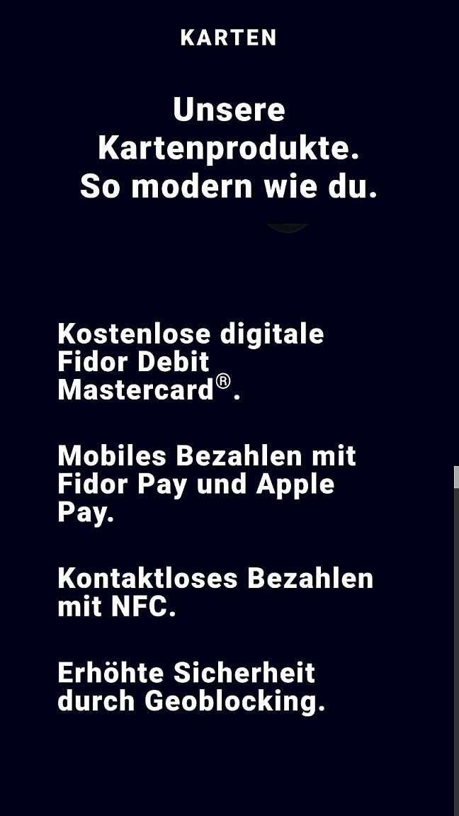 Fidor Mastercard